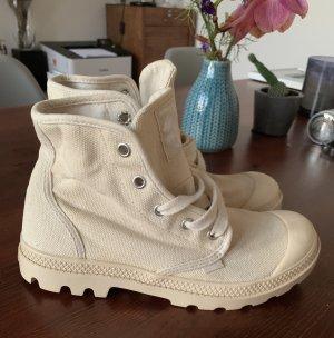 Palladium Damen Boots Creme Beige Gr. 38