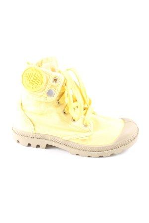 Palladium Botte courte jaune primevère-gris clair style décontracté