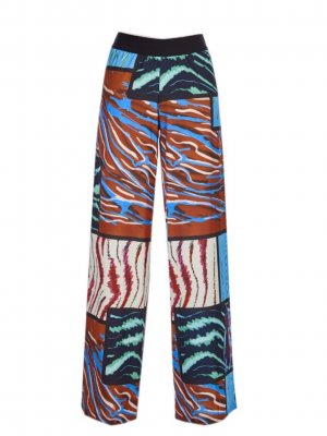 Save the Queen Palazzo Pants multicolored polyamide