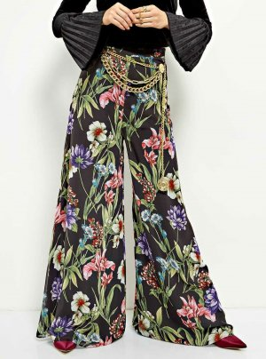 Guess Palazzo Pants multicolored polyester