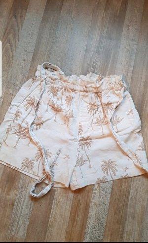 H&M Pantaloncino a vita alta bianco sporco