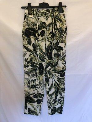 Palmenblätter Blätterdruck Pluderhose 38 H&M