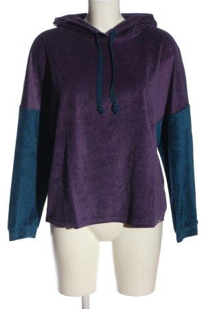 Palmers Hooded Sweatshirt lilac-blue casual look