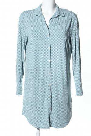 Palmers Pyjama turquoise-white allover print casual look