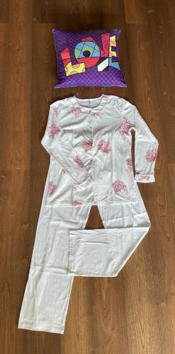 Palmers Pyjama natural white-pink