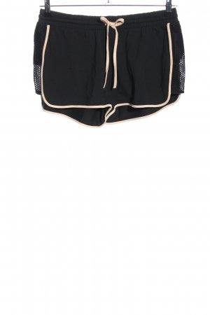 Palmers Shorts schwarz-wollweiß Casual-Look