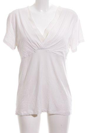 Palmers V-Ausschnitt-Shirt weiß Casual-Look