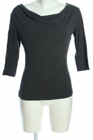 Palmers Cowl-Neck Shirt light grey flecked casual look
