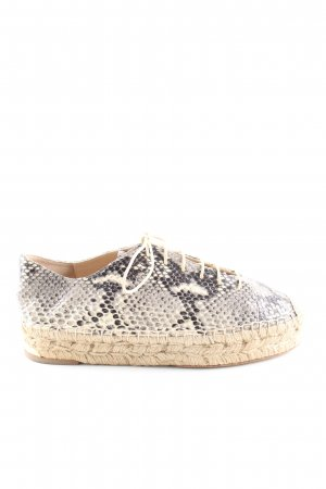 Paloma barceló Schnürschuhe creme-schwarz Animalmuster Casual-Look