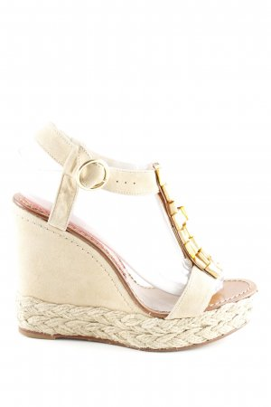 Paloma barceló Wedges Sandaletten creme Zopfmuster Casual-Look
