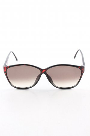 Paloma Picasso eckige Sonnenbrille schwarz-rot Casual-Look