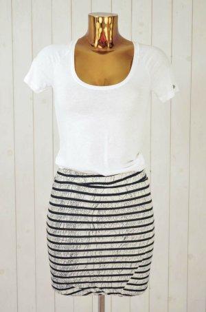 Stretch Skirt white-black linen