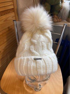 pamamí Wełniana czapka w kolorze białej wełny
