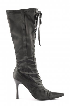 Pambo Sexy Shoes Wide Calf Boots black elegant