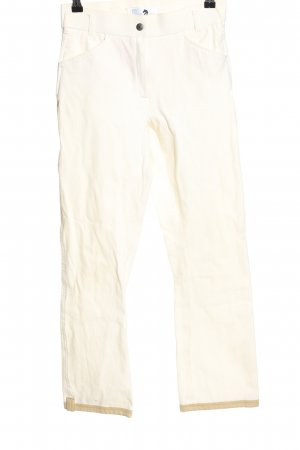 Pamela Henson 7/8 Length Trousers cream casual look