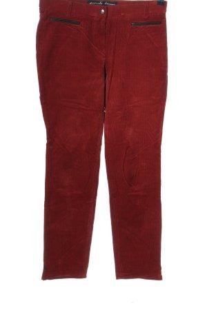 Pamela Henson Corduroy Trousers red casual look