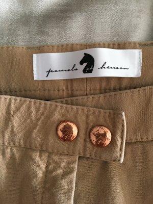 Pamela Henson Pantalone a 3/4 marrone chiaro-oro
