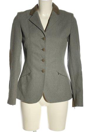Pamela Henson Long Blazer light grey flecked business style