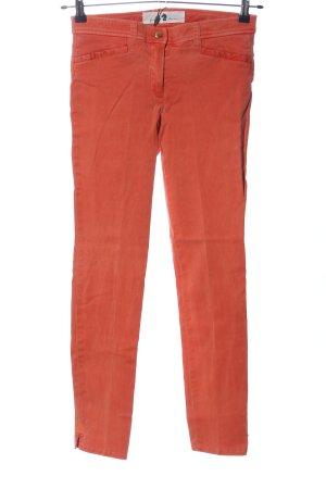 Pamela Henson Jeans a sigaretta rosso stile casual