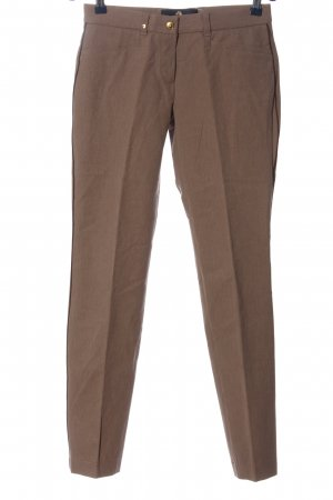 Pamela Henson Jersey Pants brown flecked business style
