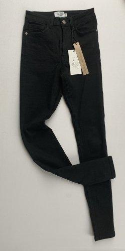 NA-KD Pantalon taille haute noir matériaux recyclés