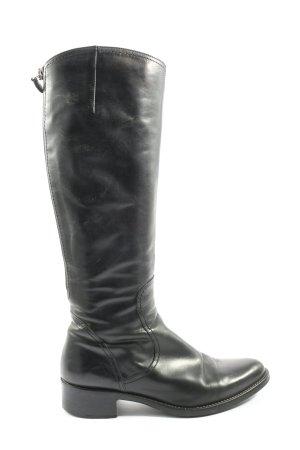Pamela Stern Wide Calf Boots black casual look