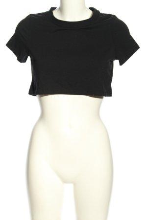 Pamela x Na-kd Koszula o skróconym kroju czarny W stylu casual
