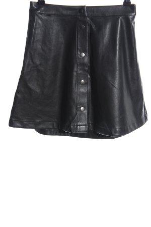 Pamela x Na-kd Faux Leather Skirt black business style