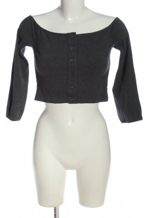 Pamela x Na-kd Geribd shirt zwart casual uitstraling