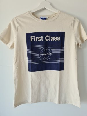PAN AM by Zara T-Shirt, Firstclass-Logo, Gr.S, beige