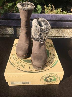 Panama jack Futrzane buty szaro-brązowy