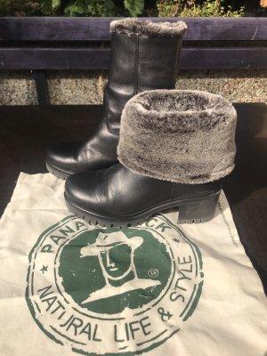Panama Jack Lederstiefel mit Fell Piola schwarz