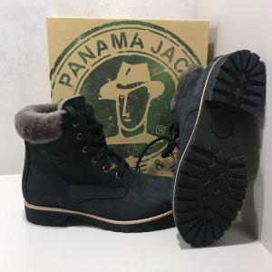 Panama jack Botines de invierno negro Cuero