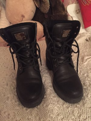 Panama jack Lace-up Booties black leather