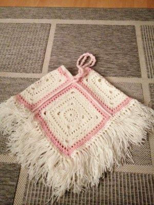 Handarbeit Vestito di lana bianco sporco-rosa chiaro