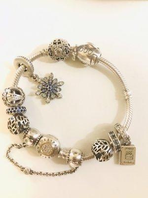 Pandora Zilveren armband blauw-zilver