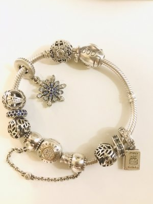Pandora Silver Bracelet blue-silver-colored