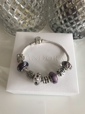 Pandora Armband 19 cm inkl 8 Charms