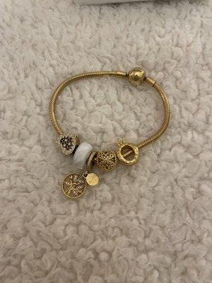 Pandora Brazalete de oro color oro