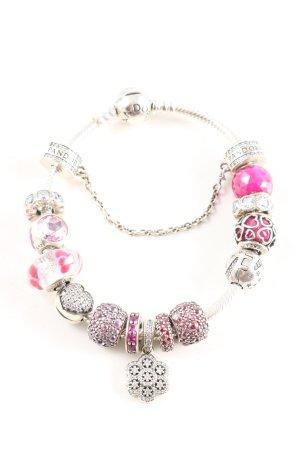 Pandora Armband silberfarben-pink Casual-Look
