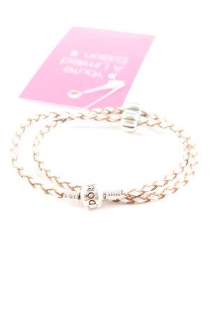 Pandora Armband braun-creme Casual-Look