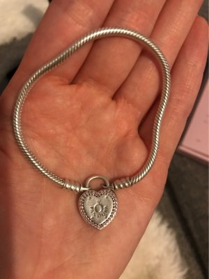 Pandora Silver Bracelet silver-colored-pink