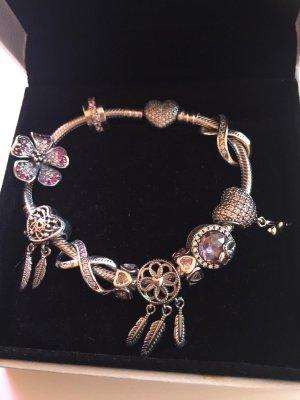 Pandora Bransoletka srebrny-różowy