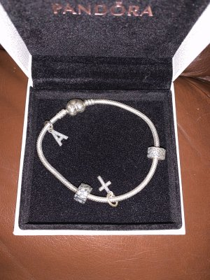 Pandora Brazalete de plata color plata