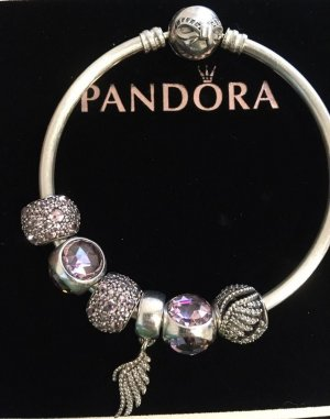 Pandora Bangle white metal