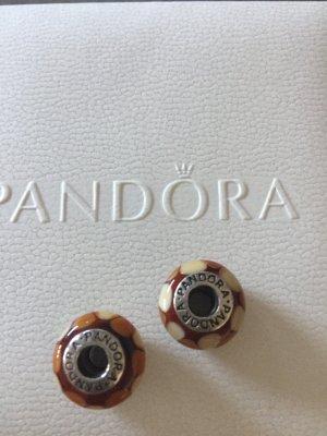 Pandora Colgante beige-camel vidrio