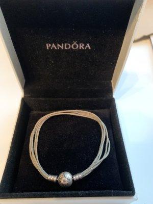 Pandora Charm Bracelet khaki-silver-colored