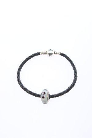 Pandora Charm Bracelet black-silver-colored casual look