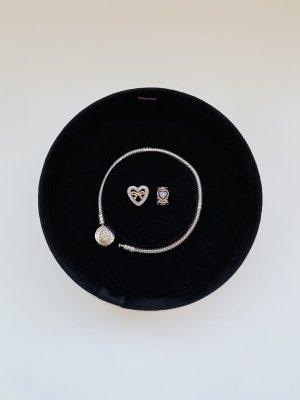 Pandora Armbandje met bedels zilver-goud