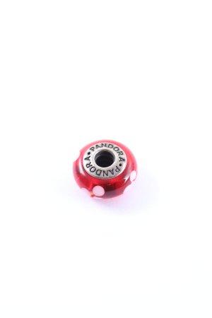 Pandora Breloque rouge-blanc motif de tache style décontracté